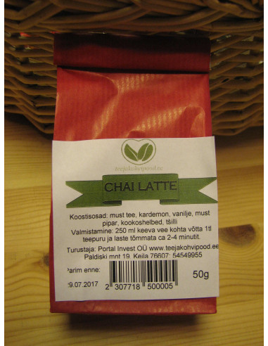 """Chai Latte"" must purutee 50 g"