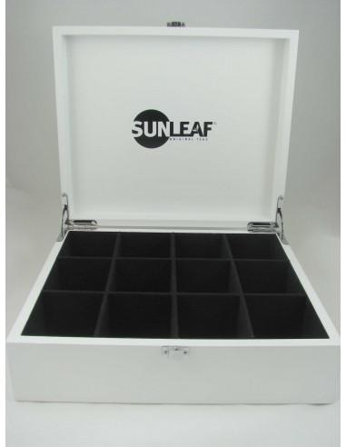 Sunleaf suur puidust teekarp 12x10*2 g