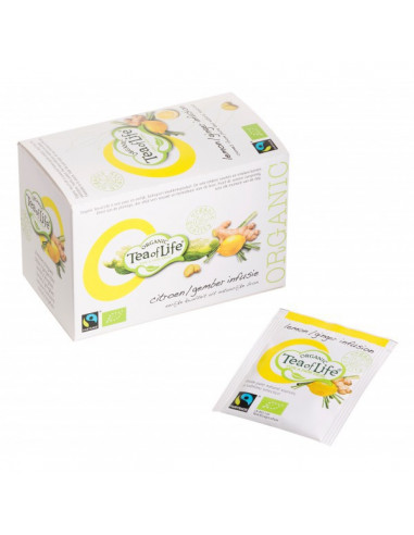 Tea of Life Organic Fair Trade taimne tee sidunheina ja ingveriga 20*1,5g