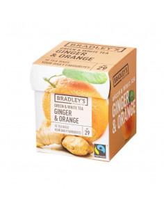 Bradley`s Favorites Roheline ja valge tee ingveri ja apelsiniga 10*1,75g